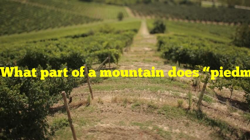 """What part of a mountain does """"piedmont"""" refer to?"""